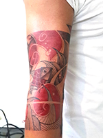 abstract-geometric-line-watecoulor-tattoo- Tattoo