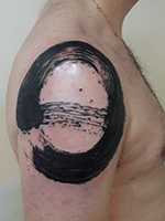 Abstract Geometric Line Watecoulor Tattoo