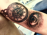 Arrow Camera Clock Compass Eye Tattoo